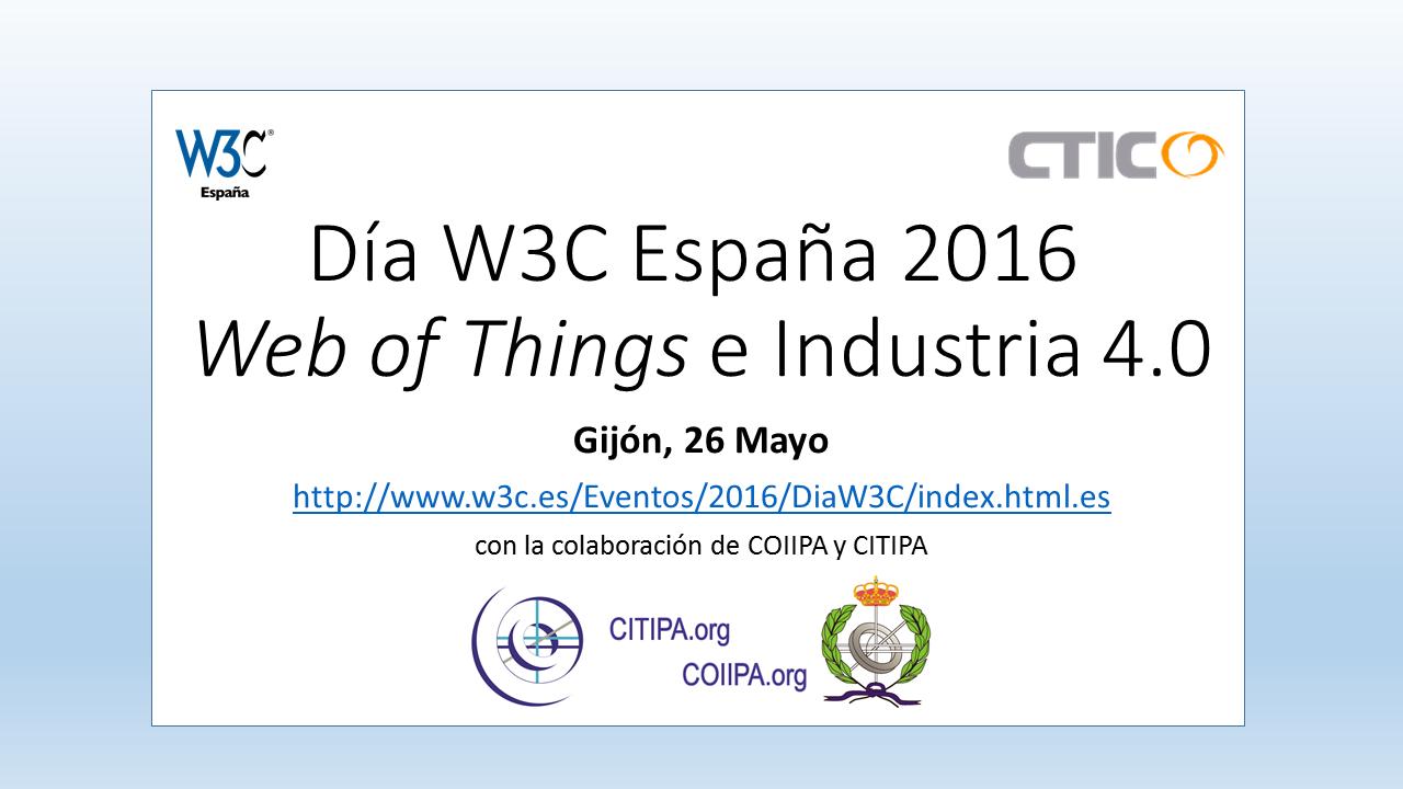 Cartel Día W3C en España 2016