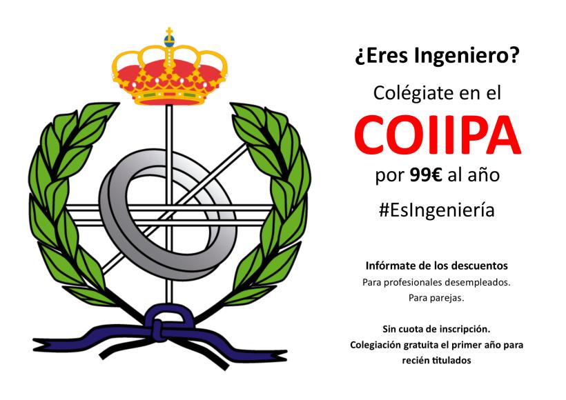 Cartel - Colegiación en COIIPA.