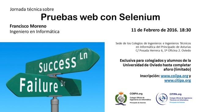 2016 - Jornada técnica - Pruebas web con Selenium
