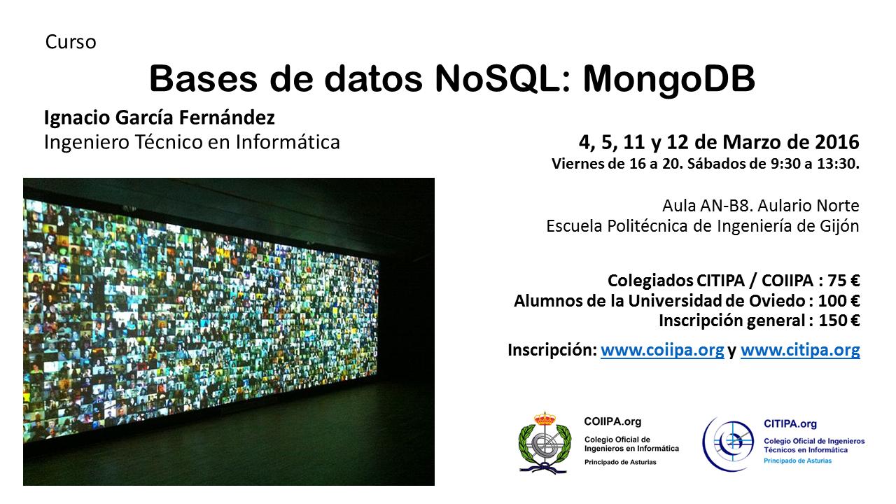 Curso MongoDB. Marzo 2016.