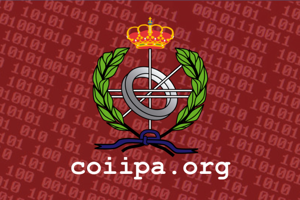 Escudo COIIPA fondo rojo