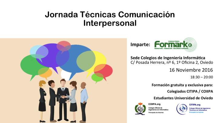 Jornada sobre Técnicas de Comunicación Interpersonal