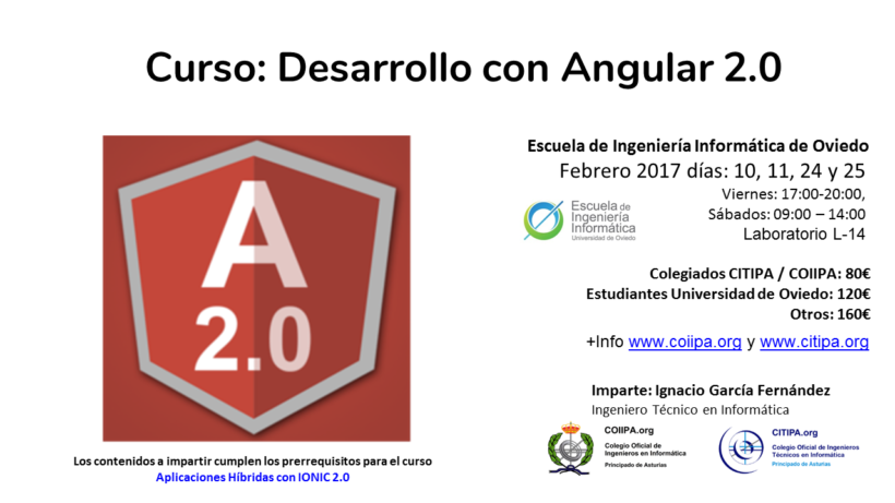 Cartel Curso Angular 2.0